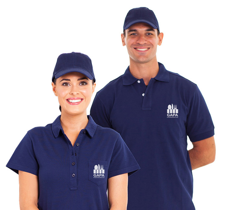 group of delivery service staff